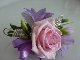 Pink Rose and Lilac Fuchsia Corsage